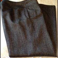 Talbots Collection Dress Pants Great fitting Talbots Collection Dress Pants. Fully lined. 78% Wool.  These are the most comfortable flattering dress paints I have ever owned.  Black and gold weave (not metallic).  Inseam 32 inches. Talbots Pants