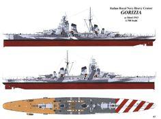 RMN Italian Heavy Cruiser Gorizia, 1943