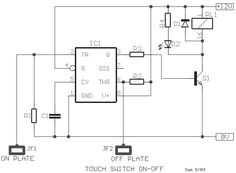 Electronic Circuit Projects: Simple Touch Sensor Switch Circuit