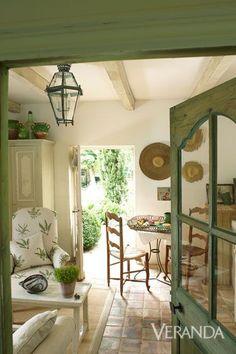 Gorgeous #FrenchFarmhouse interior design and decor on Hello Lovely Studio #Frenchcountry