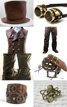 The Ultimate Steampunk for Men by Salih Narman on Etsy - I love how this treasury of ideas has made it so easy to pull together a whole outfit of fabulous Steampunk attire and accessories.