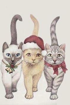 HoLiday Kitty Cats Cross Stitch Pattern***L@@K***
