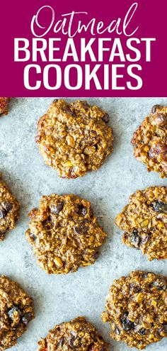 These Banana Oatmeal Breakfast Cookies are packed with protein and fibre, and come together with just 4 ingredients. Plus, they can be frozen for meal prep! #breakfastcookies Oatmeal Breakfast Cookies, Breakfast Cookie Recipe, Banana Oatmeal Cookies, Best Breakfast Recipes, Good Healthy Recipes, Easy Dinner Recipes, Vegan Recipes, Breakfast Ideas, Meal Prep Bowls