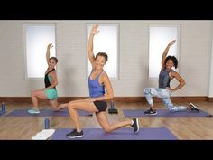 25-Minute Calorie-Crushing Cardio and Legs Workout | Class FitSugar - YouTube
