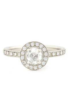Anne Sportun .33ct Round Rosecut & .48ctw Pave Diamond Ring | Oster Jewelers #MyBridalStyle #MyDiamondStyle