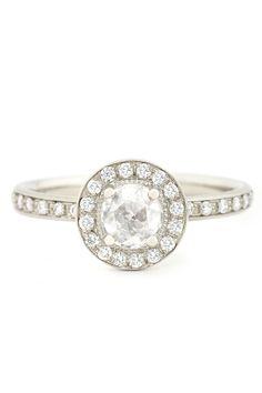 Anne Sportun .33ct Round Rosecut & .48ctw Pave Diamond Ring | Oster Jewelers #MyBridalStyle #MyDiamondStyle