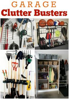 Clutter Busters to Organize Your Garage