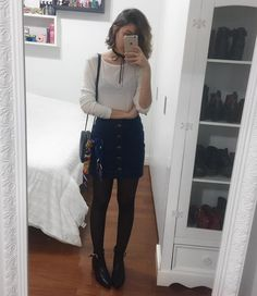 Teenage Fashion 2019 - 18 Fabulous Outfits for Teenage Girls - virtual closet - Modetrends Teenager Outfits, Teenager Mode, Outfits For Teens, Fall Outfits, Casual Outfits, Teenager Girl, Fashion Fail, Look Fashion, Teen Fashion