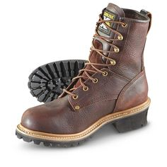 Sportsman's Guide has your Men's Carolina Boots® Logger Boots, Brown available at a great price in our Work Boots collection Men's Boots, Cool Boots, Brown Boots, Logger Boots, Tactical Wear, Georgia Boots, Outdoor Wear, Shoe Collection, Leather Boots