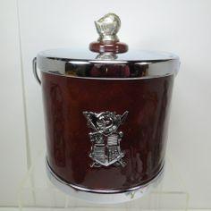 Vintage Ice Bucket Knight Coat of Arms #MCM #Barware #MidCenturyMod #FathersDay