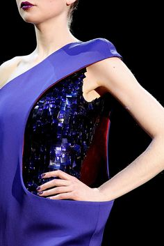 Armani Privé Couture Spring // Thousand shades of blue and ultraviolets within scales with a futuristic touch