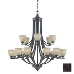 Shop Triarch International 18-Light 240 Series English Bronze Chandelier at Lowes.com