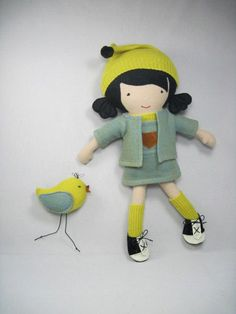 Stuffie girl and bird