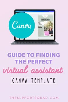 """""""Guide to Finding the Perfect VA"""" Customizable Canva Template — The Support Squad Cover Up Pimples, Lead Magnet, Business Essentials, Email List, Virtual Assistant, How To Become, Create Yourself, Social Media, Templates"""