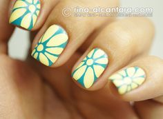 A Closer Look at Flowers Nail Art Design by Simply Rins