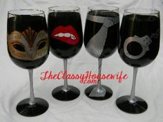 Fifty shades wine glass