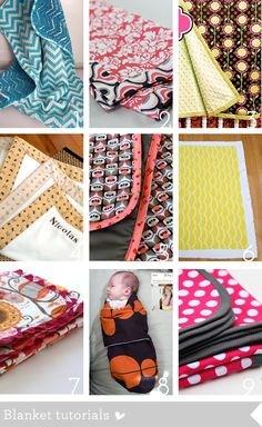 Crib bedding and nursery sewing tutorials roundup | How Joyful- next pregnancy I'm going to make it a goal to make some of these things.