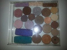 Don't buy metal makeup palettes! Pop out your pots with a knife and glue them inside an old cd case.