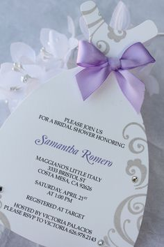 Handmade Bridal Shower Invitation by CraftedbyLizC.