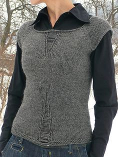 Free knit - drop stitch vest. The picture on flicker is better than the one on Craftster.org