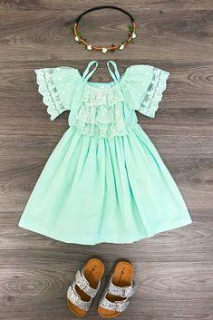Aqua Blue White Wave Stripe Baby Ribbon Crib Shoes with Aqua Blue Rosette NB-18M