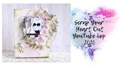 Scrap Your Heart Out YouTube Hop - Mixed Media Canvas step by step Finding Yourself, Make It Yourself, Mixed Media Canvas, Card Sketches, Media Design, Your Heart, Tutorials, Scrapbook, Youtube