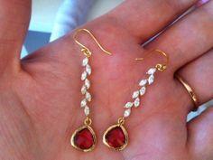 Bridesmaid Gift Earrings Bridal Dangle You Choose by FlorisBags, $25.00