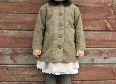 Brown Retro Coat for Girls by kokokoshop on Etsy, 69.00