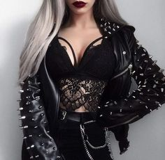 Bad Girl Outfits, Edgy Outfits, Cute Casual Outfits, Mode Outfits, Grunge Outfits, Fashion Outfits, Grunge Goth, Mode Grunge, Alternative Outfits