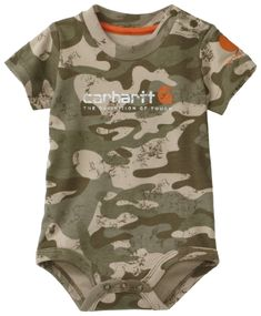 Carhartt Baby-boys Infant Camo Short Sleeve Bodyshirt