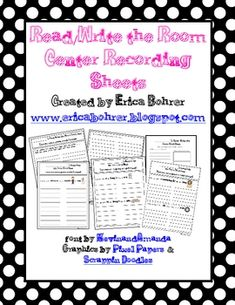 This download is for 86 different Read/Write the Room Center Recording Worksheets. I provided you with a variety of phonic based recording sheets. ...