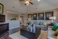 Pitched ceilings create spaciousness without sacrificing square footage. Seen in The Highlands of Remuda Ranch, a San Antonio community.
