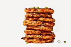 These easy kimchi pancakes come together in no time, and are the perfect combination of crunchy and chewy.