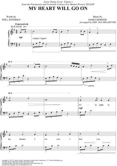 My Heart Will Go On Sheet Music Preview Page 1