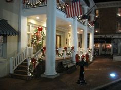 The Gettysburg Hotel sits on the site of what in 1863 was a much smaller McClellan House. This view was taken facing northeast at approximately 6:00 PM on Sunday, December 7, 2008.