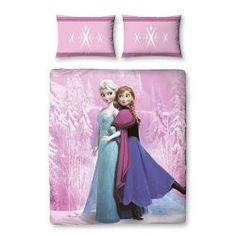 Parure de lit La Reine des Neiges Elsa & Anna pour 2 personnes #couettefrozen #parurefrozen