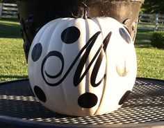 Personalized Pumpkin Fall Decor. Now available on Shine Handmade Goods!