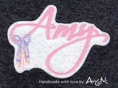 Aufnäher - Aufnäher Name mit Ballettschuhen ♥ Applikation - ein Designerstück von AnCaNi bei DaWanda