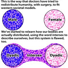 This is the way that doctors have tried to redistribute humanity, with surgery, to fit western societal models...    (2 of 3)    [click on this image to find a short clip and analysis of intersex identities and the consequences of a rigid binary]