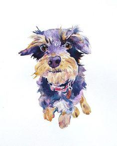 Aangepaste huisdier portret met huisdier portret, dier schilderij, aangepaste portret, 11 x 14 inchs, originele aquarel schilderij, hond kunst Gift - illustratie door Coconuttowers op Etsy https://www.etsy.com/nl/listing/181586473/aangepaste-huisdier-portret-met-huisdier
