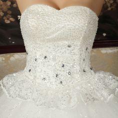 Free Shipping The bride wedding dress formal dress 2014 tube top plus size maternity wedding dress mm diamond US $78.38