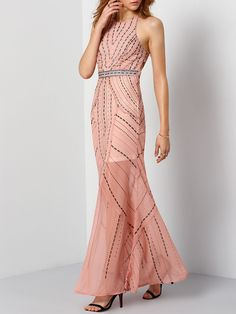Shop Halter Open Back Maxi Dress online. SheIn offers Halter Open Back Maxi Dress & more to fit your fashionable needs.