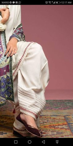 Best 12 Perfect trousers for summers. available in every color in lawn. Salwar Designs, Kurta Designs Women, Blouse Designs, Stylish Dresses For Girls, Stylish Dress Designs, Designs For Dresses, Pakistani Fashion Casual, Pakistani Dresses Casual, Pakistani Dress Design