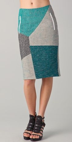 Slash Patchwork Skirt by Rag & Bone via Lyst