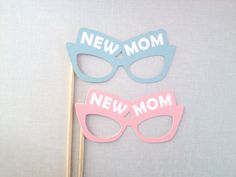 New Mom Photo Booth Prop Glasses - Baby Shower Photobooth Prop - Baby Shower Photobooth - Gender Reveal Party - It's a Boy - It's a Girl