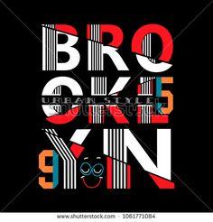 typograpy brooklyn t shirt vector