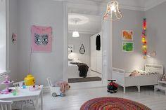 cool Diseño escandinavo en blanco para la habitación del bebé