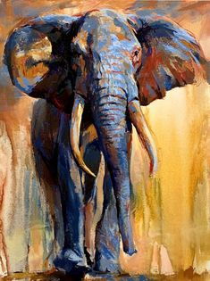 The Journey Me Oil Painting 2019 Elephant Artwork, Elephant Paintings, Elephant Canvas, Wildlife Art, Community Art, Animal Paintings, Lovers Art, Painting Inspiration, Art Pictures