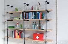 Billedresultat for homemade metal shelves