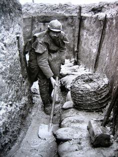 The harassing trench work.